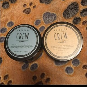 2 American crew products Fiber & Pomade